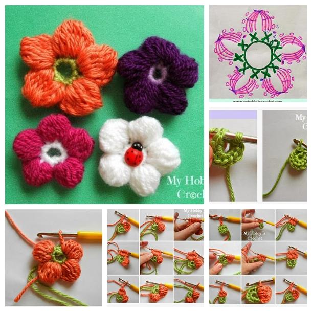 DIY Crochet 5 Petals Cluster Flower (FREE PATTERN)