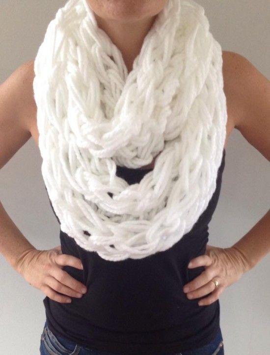 Arm Knitting Scarves Ideas 2