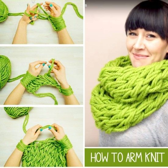 Arm Knitting Scarves Ideas 5