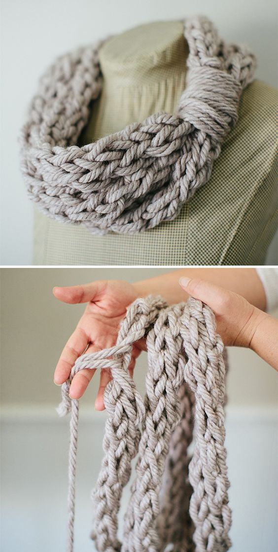 Arm Knitting Scarves Ideas 7