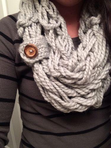 Arm Knitting Scarves Ideas