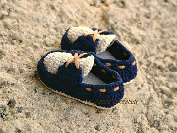 Baby Loafers Moccasins Crochet 1