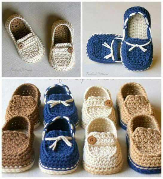 Baby Loafers Moccasins Crochet 3