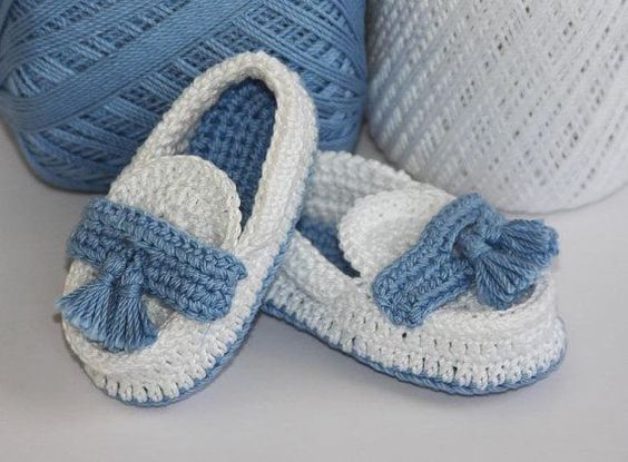 Baby Loafers Moccasins Crochet 4