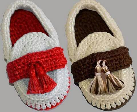 Baby Loafers Moccasins Crochet 5