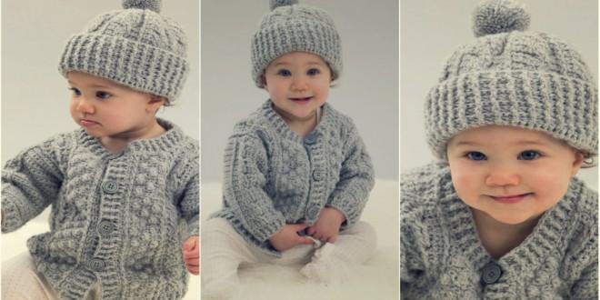 Cardigan crochet Hat coll