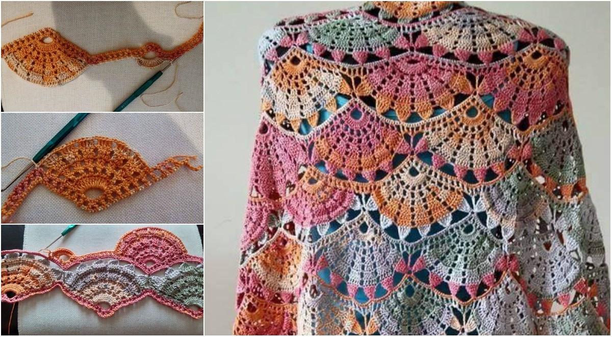 Spring Colorful Crochet Shawl Diagrams Amp Video Tutorial