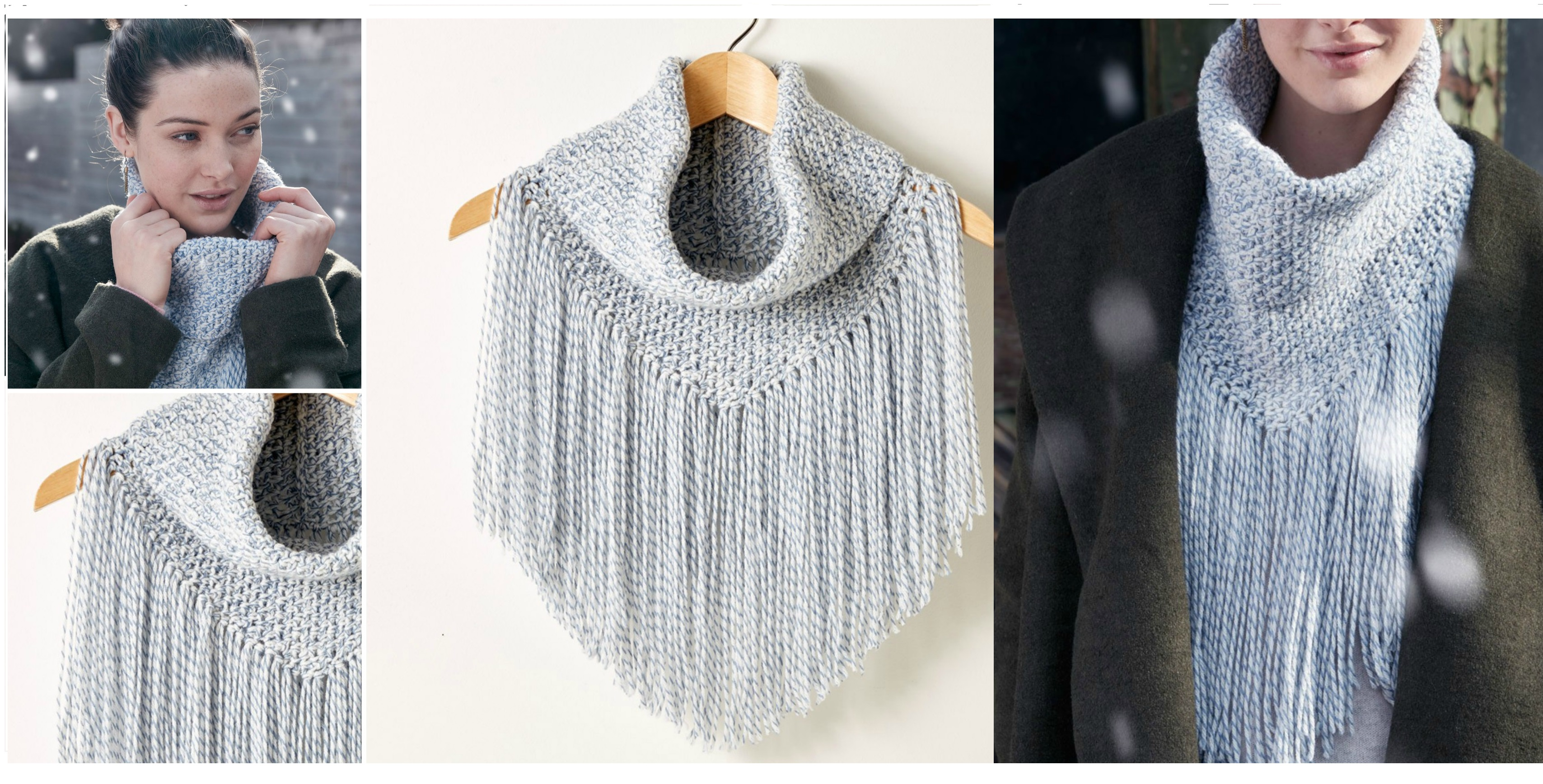 Cozy Fringed Cowl