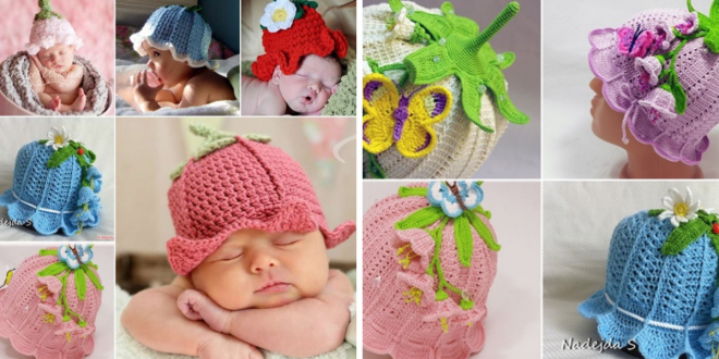 Crochet Adorable Baby Bluebell Hats
