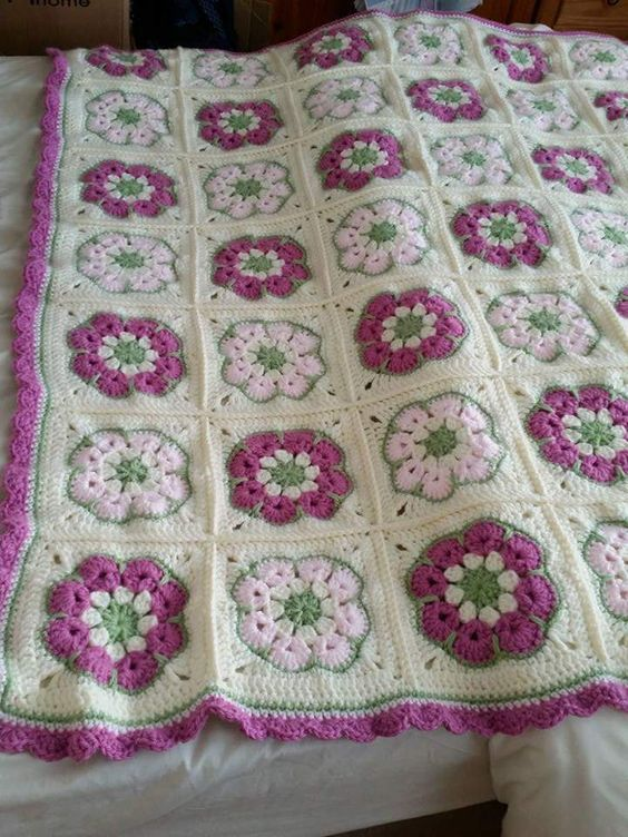 Crochet African Flower Blankets 3