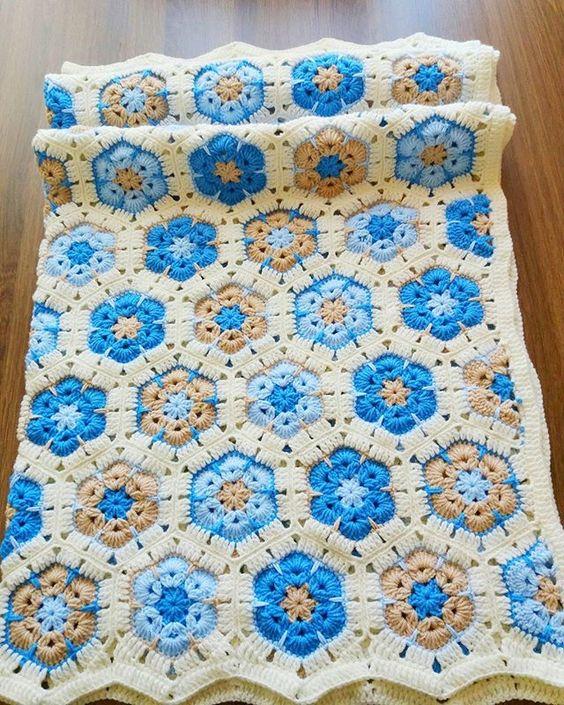 Crochet African Flower Blankets 5
