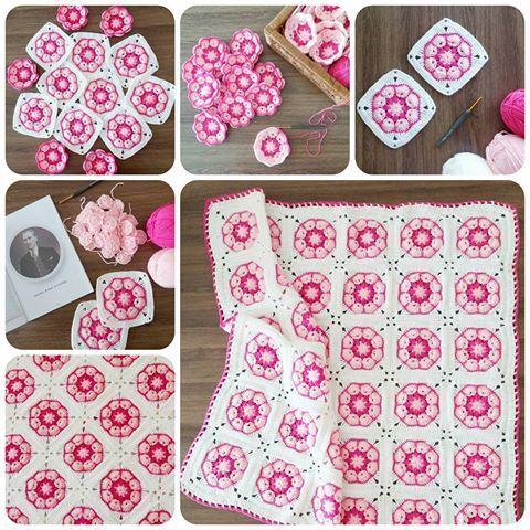 Crochet African Flower Blankets 6
