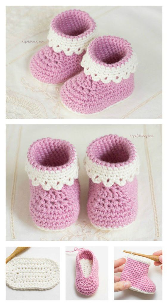 Crochet Baby Booties 1