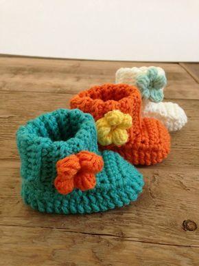 Crochet Baby Booties 5