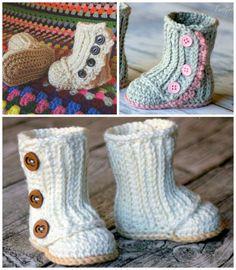 Crochet Baby Booties 6