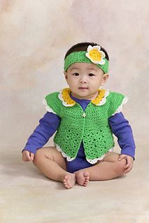Crochet Baby Petal Sweater 1