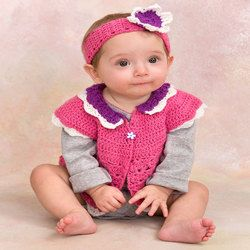 Crochet Baby Petal Sweater 2