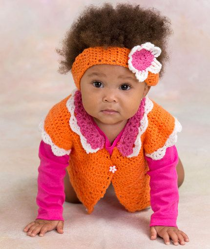 Crochet Baby Petal Sweater