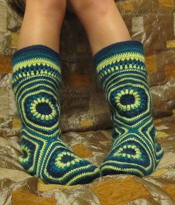 Crochet Boot Slippers 2 1