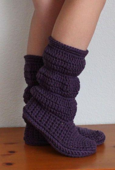 Crochet Boot Slippers 3 1