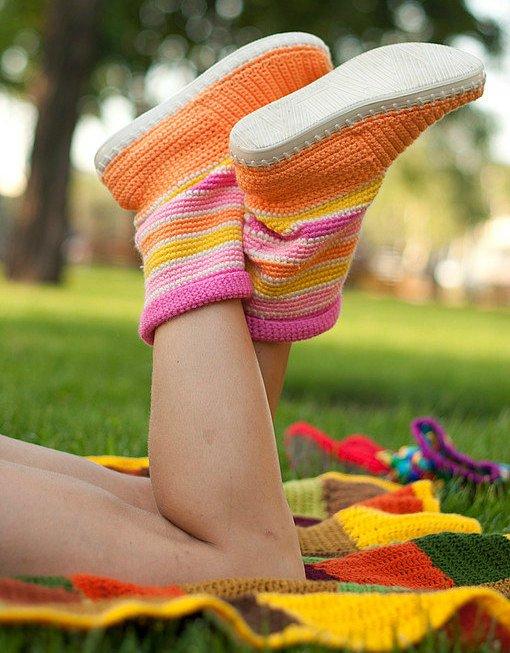 Crochet-Boot-Slippers-3