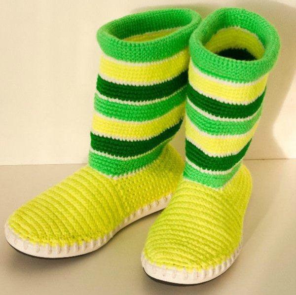 Crochet-Boot-Slippers-4