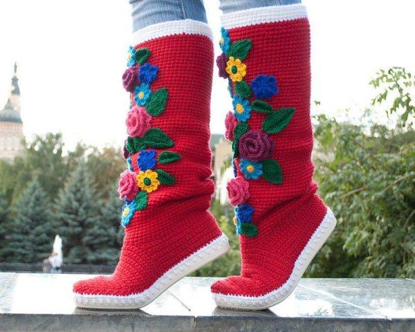 Crochet-Boot-Slippers-5