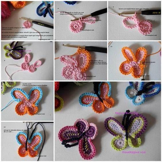 Crochet Butterfly Tutorial 1