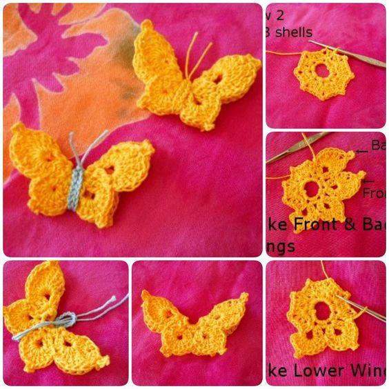 Crochet Butterfly Tutorial 3