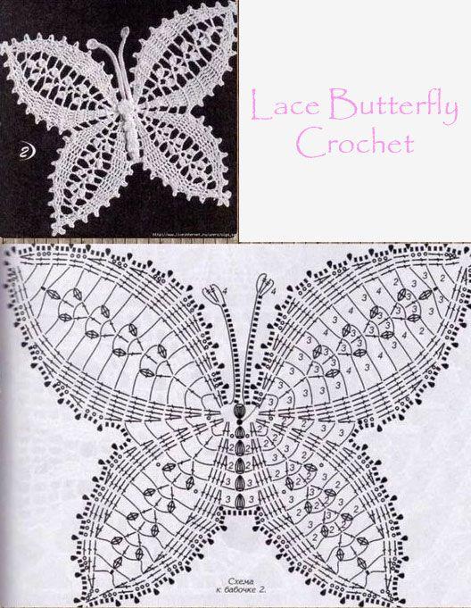 Crochet Butterfly Tutorial 5