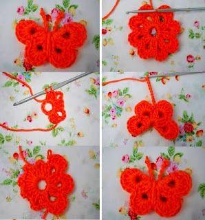 Crochet Butterfly Tutorial 6