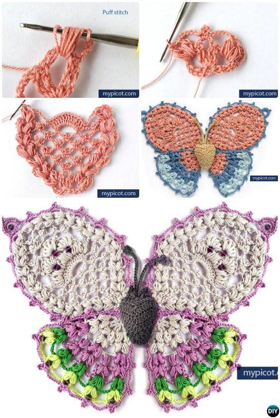 Crochet Butterfly Tutorial 7