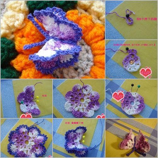 Crochet Butterfly Tutorial 9