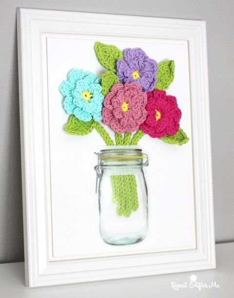 Crochet Canvas ideas