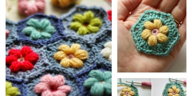 Crochet Daisy Puffagon