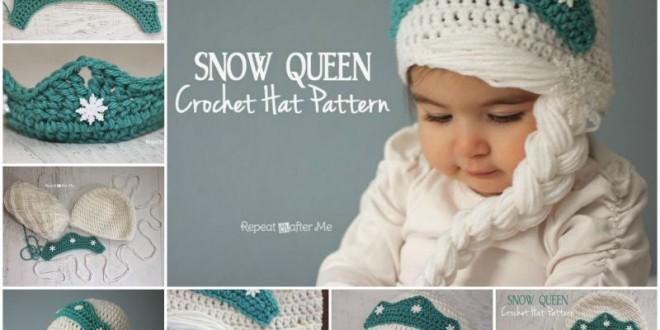 Crochet Elsas Snow Queen Girls Hat