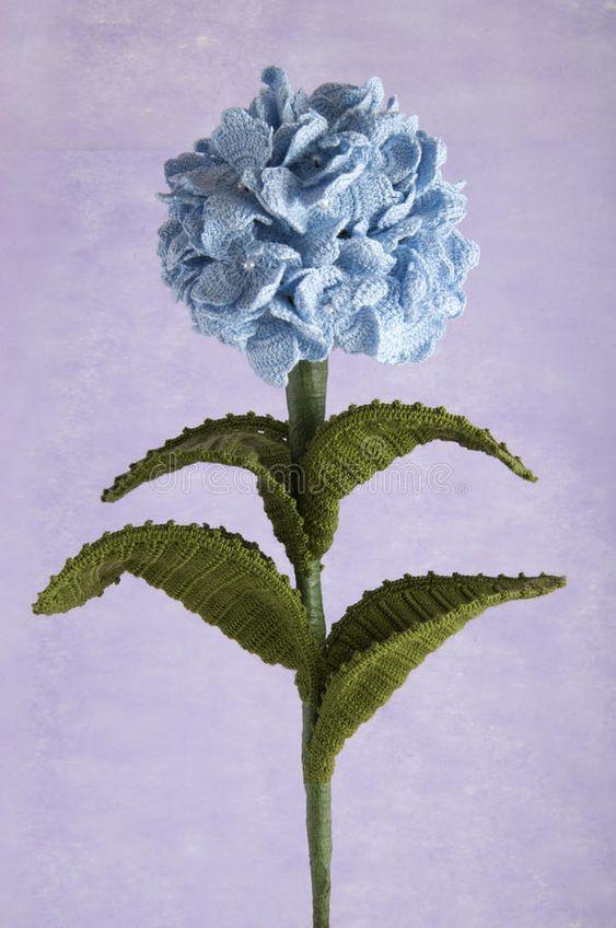 Crochet Hydrangea Flower 1