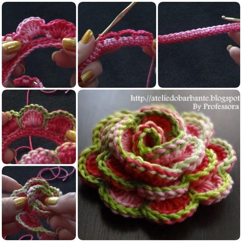 Crochet Hydrangea Flower 3