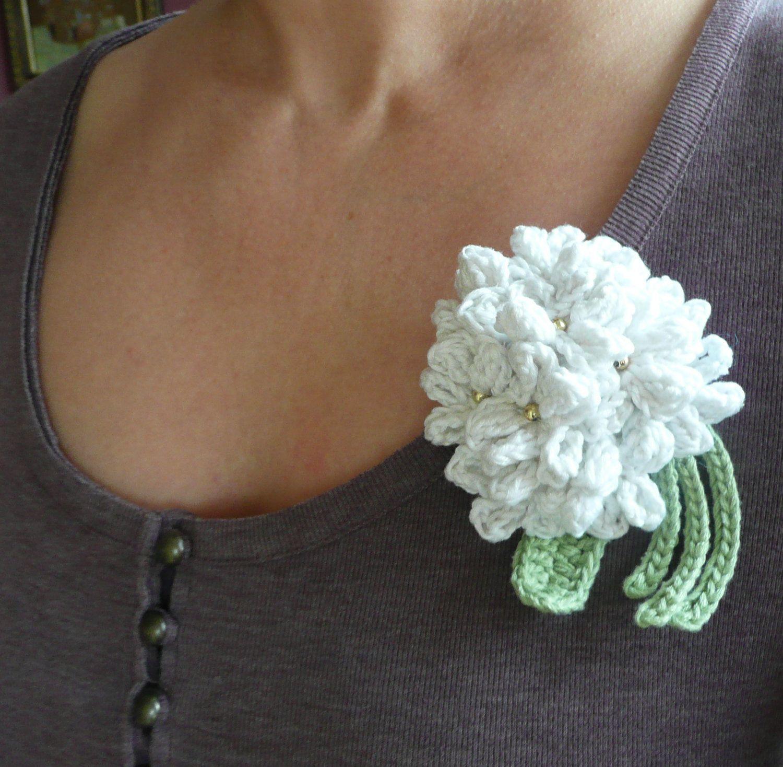 Crochet Hydrangea Flower 4