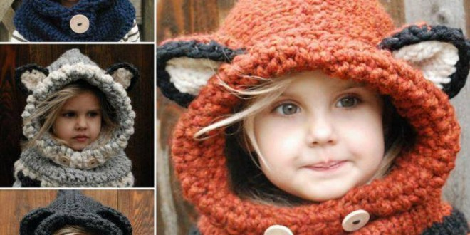 Crochet Knitted Cowls