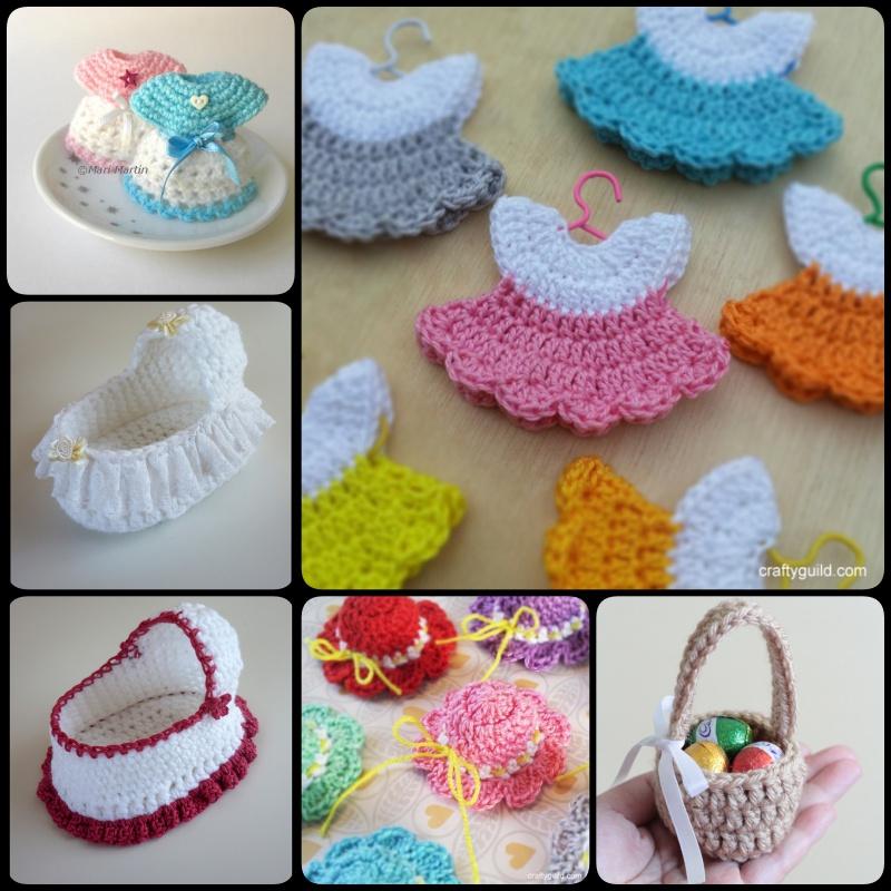 Crochet Mini Baby Shower Favors