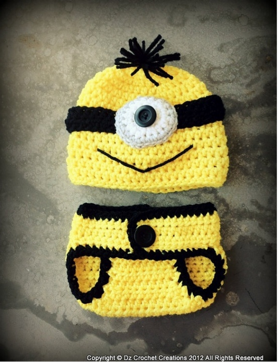 Diy crochet minion projects free pattern crochet minion baby set pattern dt1010fo