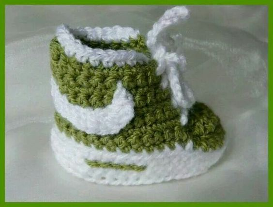 Crochet Nike Baby Booties 2