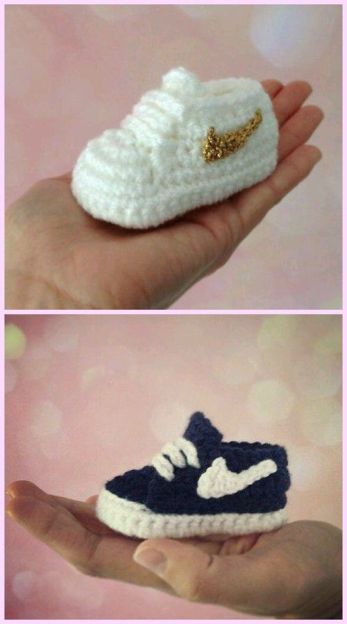 Crochet Nike Baby Booties