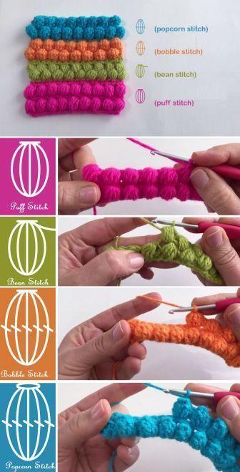 Crochet Popcorn Stitch Scarf