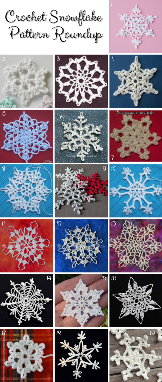 Crochet-Snowflake-FREE-Patterns