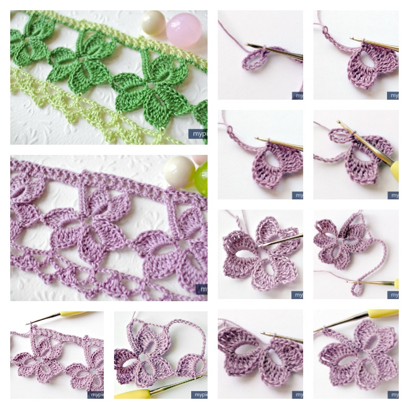 Crochet-Trefoil-Lace-edging
