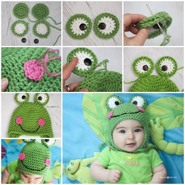 Cute-Crochet-Frog-Hat