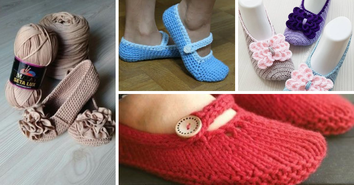 How To Diy Crochet Mary Jane Slippers With Free Pattern Video