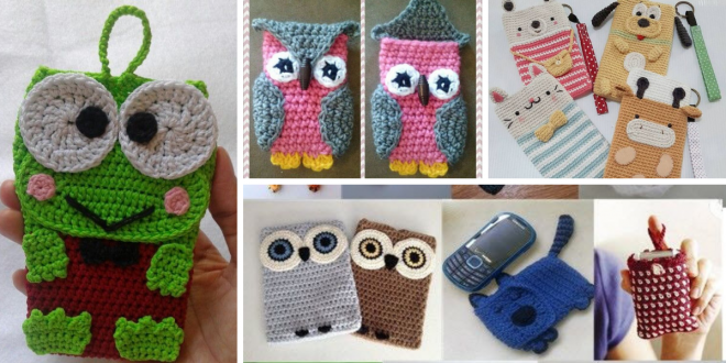 DIY Crochet Phone Cases